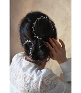 Accessoire cheveux mariage fil à cheveux pour tresser dans le chignon de la mariée