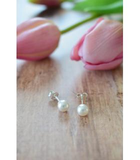 Boucles d'oreilles de mariage Puce Nacrée