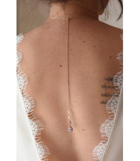Pendentif de dos pour robe dos nu, modèle Savanah