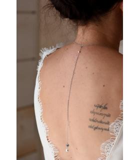 Pendentif de dos Rosée à fixer sur votre collier de mariée