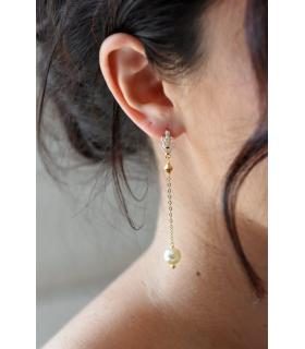 boucles d'oreilles pour la mariée art déco modèle Gaby