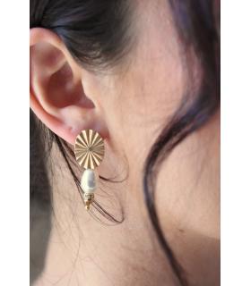 Safran - Boucles d'oreilles art déco pour mariée