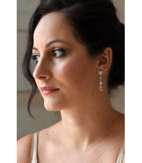Eva - Boucles d'oreilles pendantes pour mariée