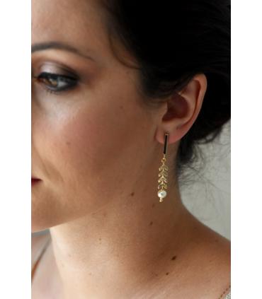 Topaze - Boucles d'oreilles de mariage bohème chic