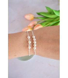 Bracelet perle pour mariée ou témoin