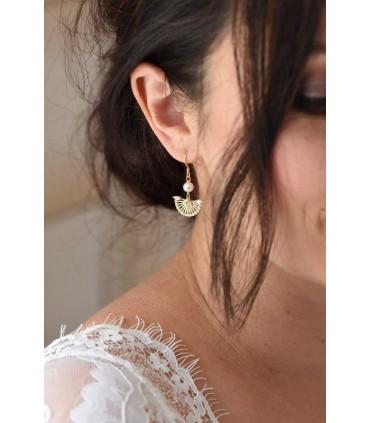 Margaret - Boucles d'oreilles de mariage art déco