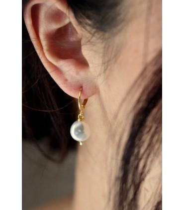 Boucles d'oreilles créoles Palet