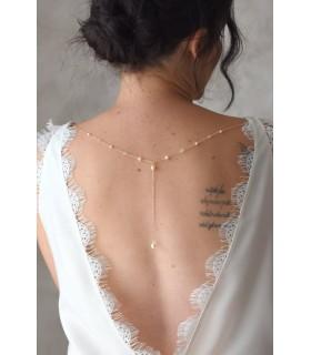 Roxane - Bijou de robe à fixer sur robe de mariée dos nu