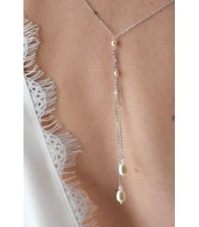 Céline, bijou à coudre sur votre robe de mariée dos nu