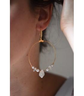 Boucles d'oreilles créoles pour la mariée modèle Bali