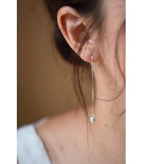 Boucles d'oreilles mariée Jeanne