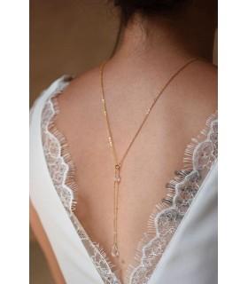 Collier de dos mariage Clémence