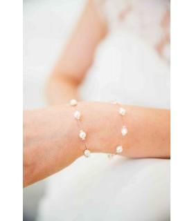 Bracelet mariage classique avec perles, Simpliste