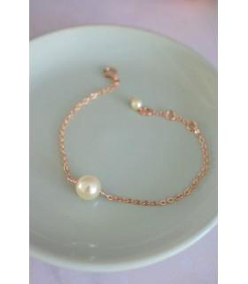 Bracelet de mariée Perle solitaire Lola