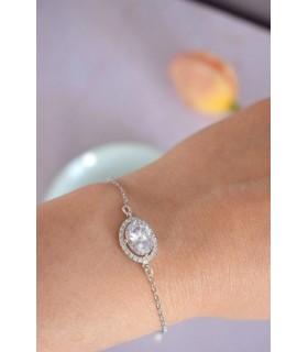 Bracelet de mariée strass Luna