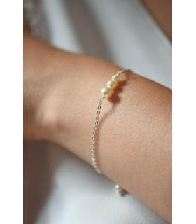 Bracelet minimaliste de mariage avec perles, Alix