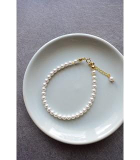 Bracelet de mariée Perles fines