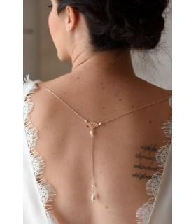 Bijou pour robe de mariée amovible Fanny