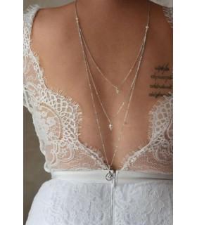 Collier de dos Olga pour les robes de mariées dos nu, effet rétro vintage