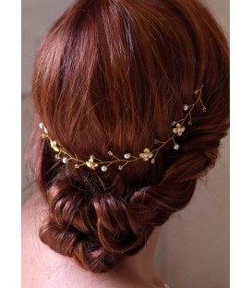 Vigne de cheveux mariage Bouton d'or