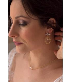 Boucles d'oreilles de mariage Leïla