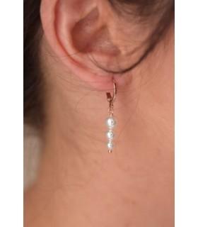 Boucles d'oreilles créoles minimalistes mariage