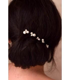 Pics à perles nacrées, lot de 5