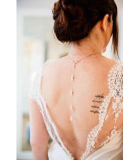Bijou de dos Rêveuse pour le mariage