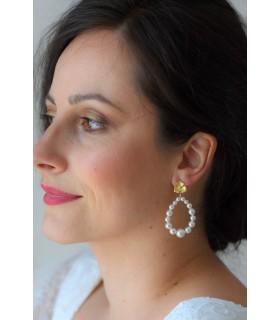 Boucles d'oreilles tendance pour la mariée - Eclosion