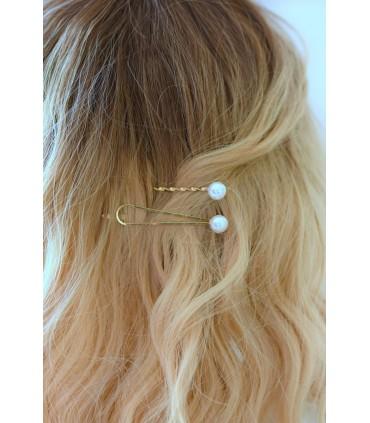 Pinces à cheveux mariage Perles - Lot de 2