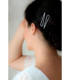 2 Pinces à cheveux en strass - Kate