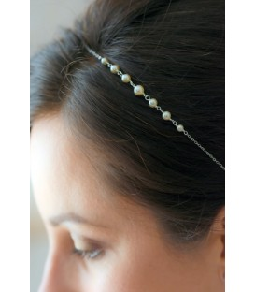 Headband de mariage classique Esmée avec perles