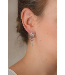 Boucles d'oreilles mariée Vana
