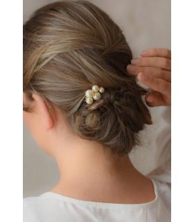 Peigne en perles Bulles nacrées - bijoux mariage classiques