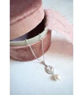 Arizona, collier de mariée strass et perles