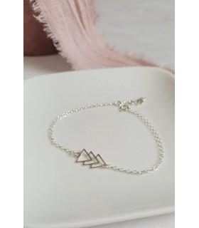 Bracelet Triangles (en argent 925)