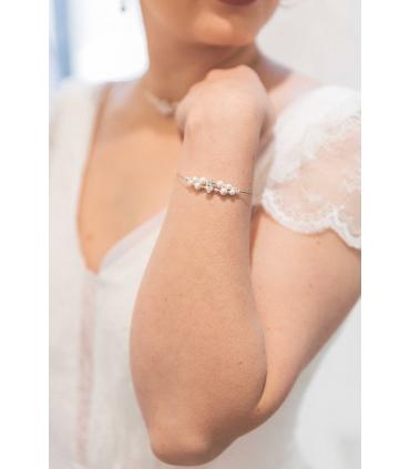 Bracelet de mariage Plumetis