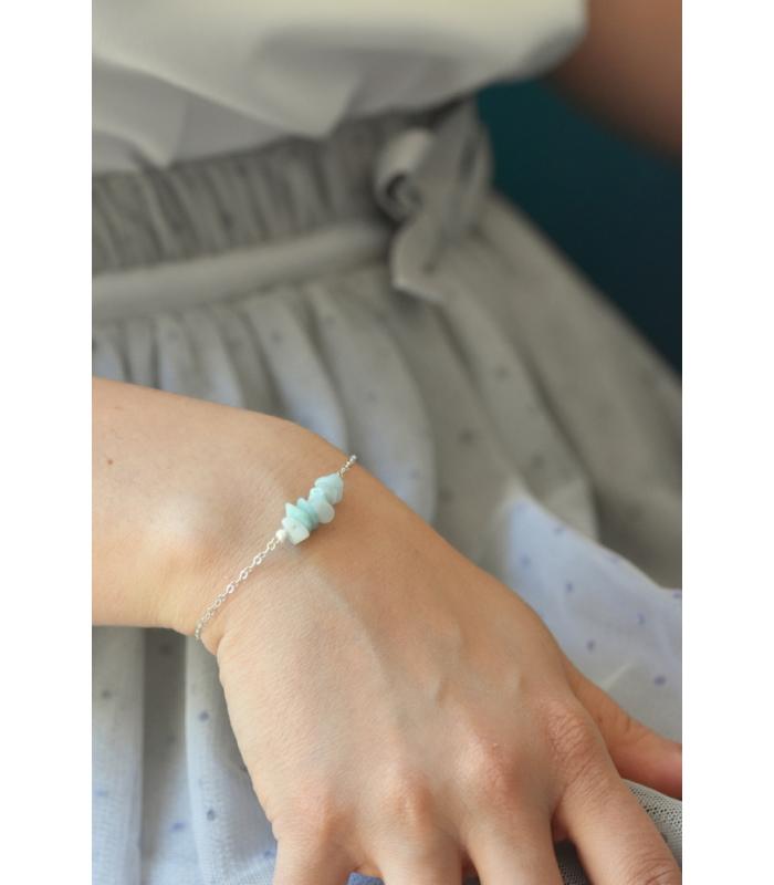 Bracelet amazonite & argent 925