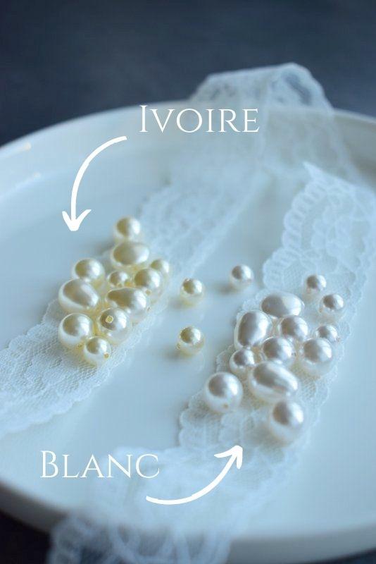 bijoux mariage ivoire ou blanc