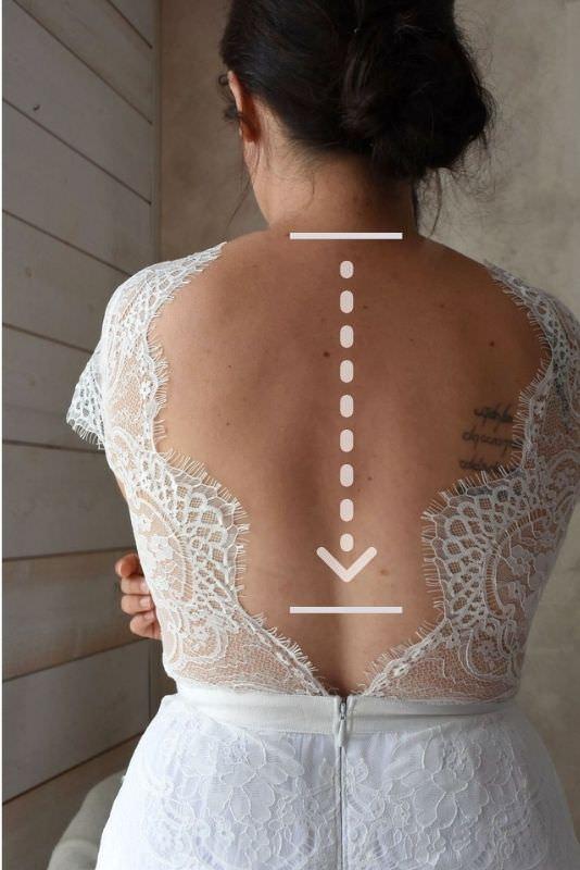 collier de dos mariage sur mesures